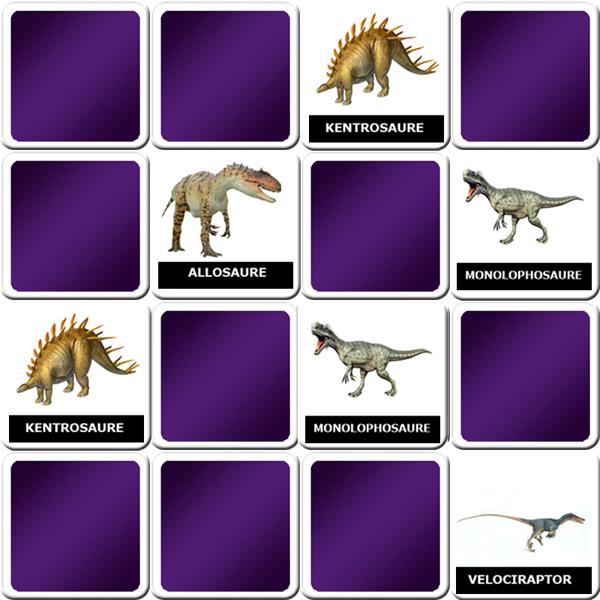 jeu pour apprendre le nom des dinosaures. Black Bedroom Furniture Sets. Home Design Ideas